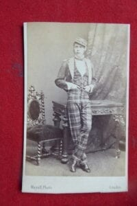 74th HLI. A named and dated carte de visite of a young officer, 1867