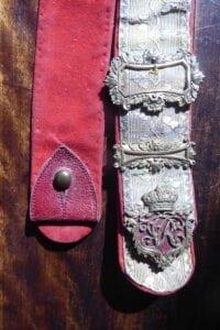 8th King's Royal Irish Hussars, Victorian officer's dress shoulder belt