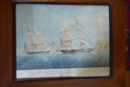 British Royal Navy fighting slavery off the African Coast, circa 1830