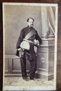 Malta. A general officer, photographed in Malta, circa early 1860s