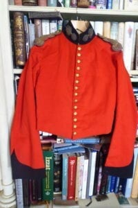 1st Madras European Regiment (Fusiliers). An officer's stable jacket, late Company period