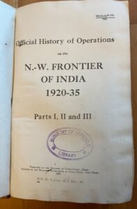 North West Frontier: Official History of Military Opertions 1920 -1935